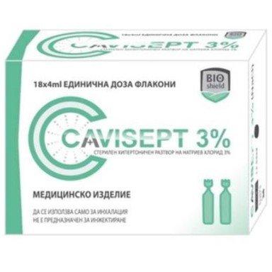 Cavisept 3% Разтвор за инхалации 18 дози х4 мл