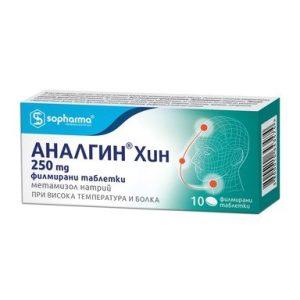 Аналгин Хин 250 мг х10 таблетки Sopharma