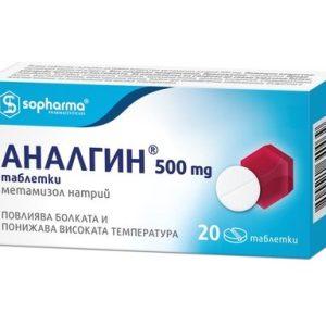 Аналгин 500 мг x20 таблетки Sopharma