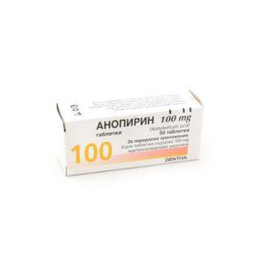 Анопирин 100 мг х50 таблетки