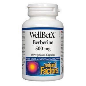 Берберин за холестерол и кръвна захар 500 мг х60 капсули Natural Factors