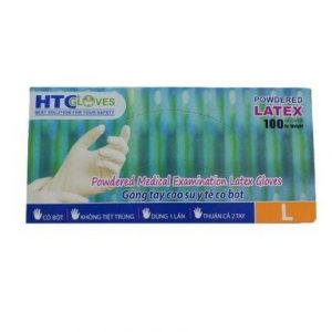 Нестерилни латексови ръкавици с пудра L х100 бр