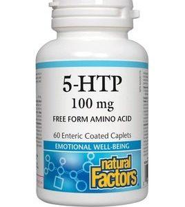 5-хидрокситриптофан срещу тревожност и депресия 100 мг x60 каплети Natural Factors