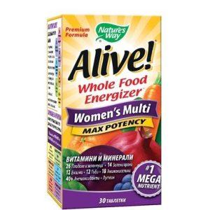 Alive Мултивитамини за жени х30 таблетки Nature's Way