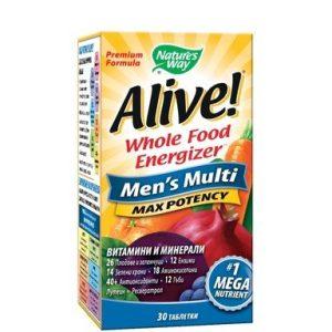 Alive Мултивитамини за мъже х30 таблетки Nature's Way