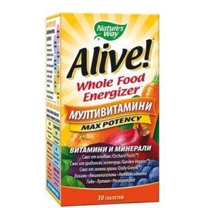 Alive Мултивитамини за подхранване на организма х30 таблетки Nature's Way