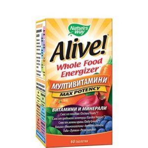 Alive при слаб имунитет 1 г х60 таблетки Nature's Way