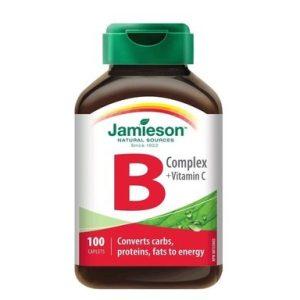 B Комплекс + Витамин C за борба със стреса и засилване на метаболизма х100 каплети Джеймисън