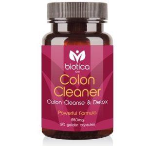 Colon Cleaner за изчистване на дебелото черво 550 мг х60 капсули Biotica
