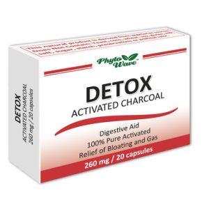 Detox активен въглен 260 мг х20 капсули