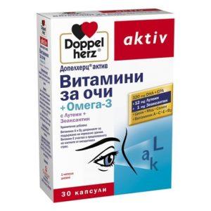 Doppelherz aktiv Витамини за очи + Омега 3 х30 капсули
