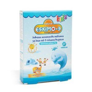 Eskimo-3 за деца с вкус на портокал х27 дъвчащи таблетки