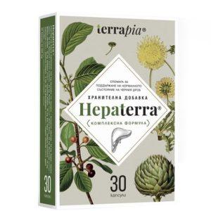 Hepaterra за нормално състояние на черния дроб х30 капсули Terrapia