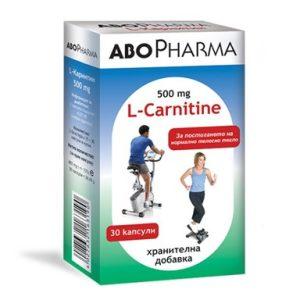 L-Carnitine 500 мг за редуциране на наднорменото тегло х30 капсули Abopharma