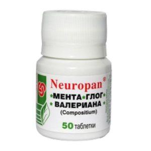 Neuropan Мента, глог и валериана х50 таблетки Panacea 2001
