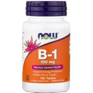 Now Foods Витамин B-1 100 мг x100 таблетки