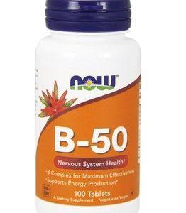Now Foods Витамин B-50 Комплекс х100 таблетки