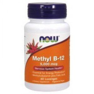 Now Foods Метил B-12 5000 мкг х60 таблетки за смучене