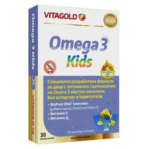 Omega 3 за здрави деца х30 дъвчащи капсули Vitagold