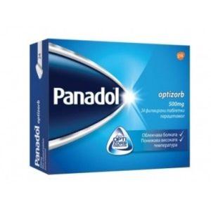 Panadol Opizorb При болка и висока температура 500 мг х24 таблекти GlaxoSmithKline