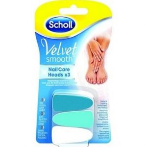 Scholl Smooth Velvet Комплект сменяеми глави за автоматична система грижа за ноктите