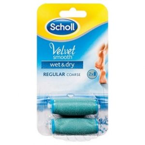 Scholl Smooth Velvet Пълнители за автоматична пила за суха и мокра кожа x2 бр