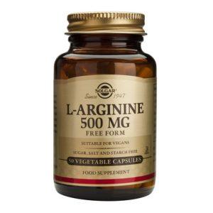 Solgar Аргинин за тонус и енергия 500 мг х50 капсули