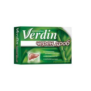 Verdin Черен дроб х24 таблетки US Pharmacia